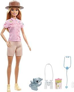 Barbie Zoologist Doll (12 inches), Role-Play Clothing & Accessories: Koala & Baby Figure, Feeding Bottle, Stethoscope, Bin...