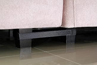 BOWERBIRD Sectional Connectors for Sliding Sofas - Innovative Double Reinforcement - Keep Your Sectionals Perfectly Together with No Tool or Screw - 4 Sets(for 3 Piece Sofa)