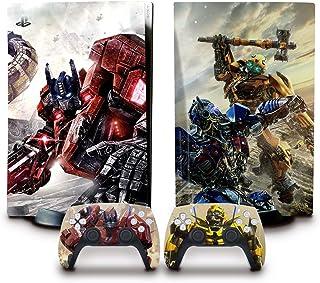 ملصق لجهاز PS5 (نسخة ديسك) مع ملصق فينيل لوحدة التحكم، ملصقات متينة ومقاومة للخدوش وخالية من الفقاعات من بيانز