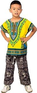 African Dashik Shirt for Kids Unisex Boys Girls Child Toddler T-Shirts