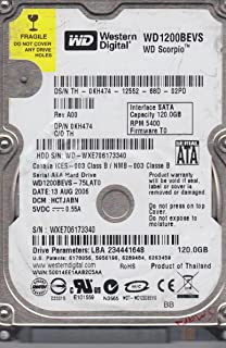 Hd Western Digital Notebook 160gb Wd1600bevt (1 Bad) #1121