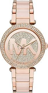 Michael Kors Women's Rose Goldtone Parker Watch With Glitz Logo Dial