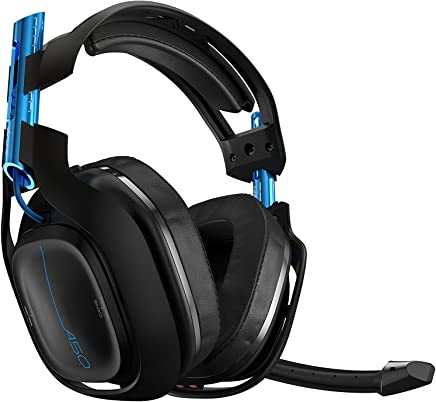 Logitech Astro Gaming - A50 Wireless Headset , Base PlayStation 4 , color Negro/Azul