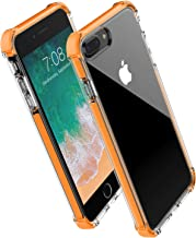 for iPhone 8 Plus case iPhone 7 Plus case,Noii Clear Hybrid Drop Protection case,[TPE Super Rubber Bumper] Shockproof case,Upgraded Reinforced Edges Technology,Heavy Duty Protective Cover-Orange