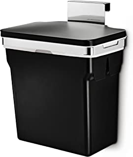 simplehuman 10 Liter / 2.6 Gallon In-Cabinet Trash Can, Heavy-Duty Steel Frame, Black