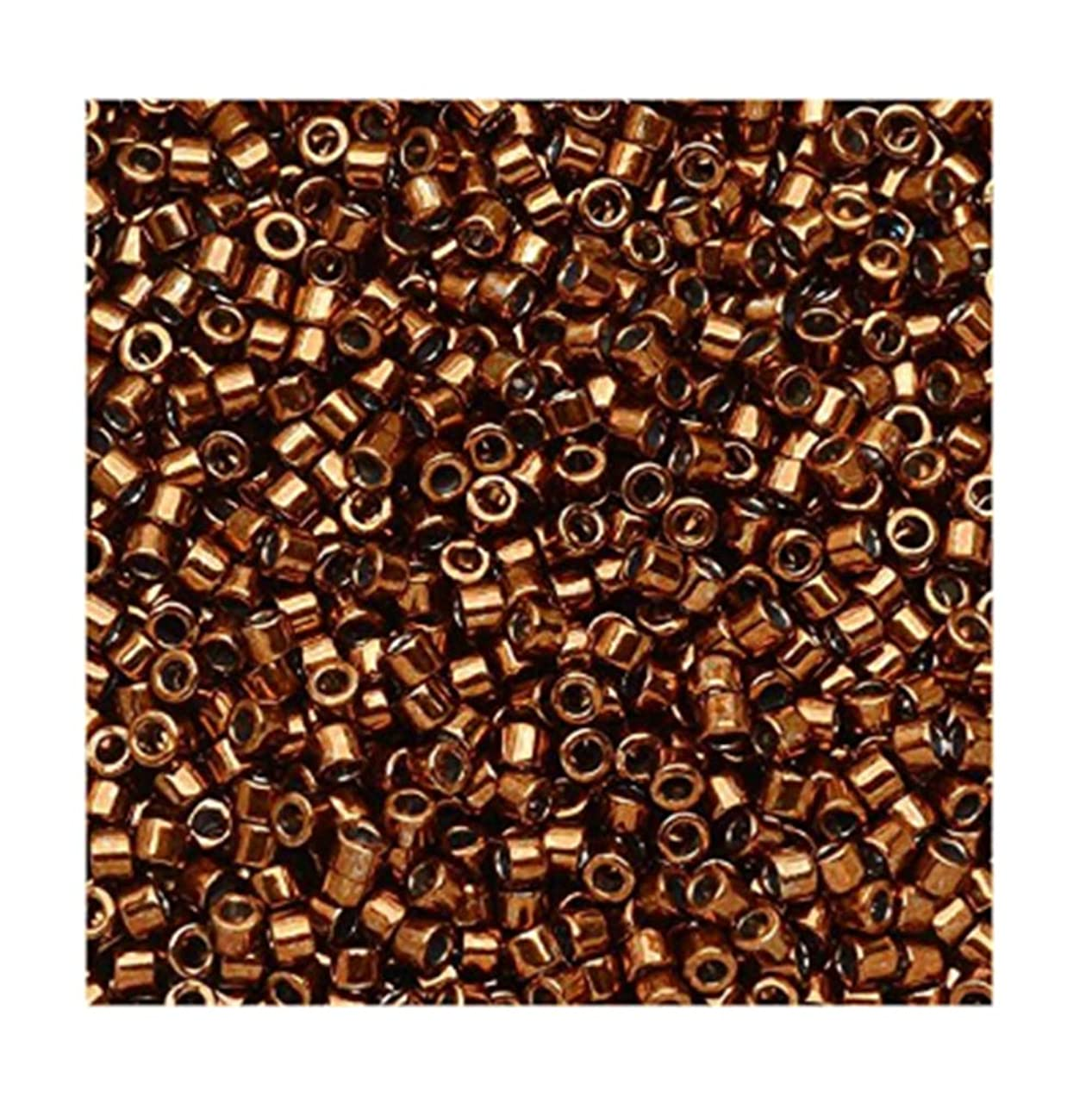 Galvanized Copper Dyed (Db461) Delica Myiuki 11/0 Seed Bead 7.2 Gram Tube Approx 1400 Beads