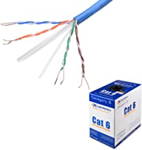 Cable Matters UL Listed in-Wall Rated (cm) Bare Copper Cat 6, Cat6 Bulk Cable (Cat6 Ethernet Cable 1000 Feet) in Blue