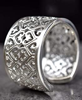 Verstellbar in Gr Geburtstags-geschenk Geburtstag Weihnachten Valentinstag 51-60 Lorbeer-Kranz 2 Damenring Silberring Frauen M/ädchen Schmuck-Ring Damen Ring 925 Silber