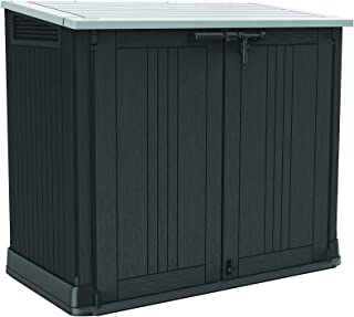 Keter Store-It-Out Prime 4.3 x 2.3 Foot Resin Outdoor Storage Shed with Easy Lift Hinges, Perfect for Trash Cans, Yard Too...