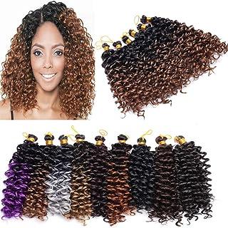 Marlybob Crochet Braids Hair Extension 8 inch Deep Water Wave Braiding Hair Curly Afro Jerry Curl Marley Bob Crochet Hair ...