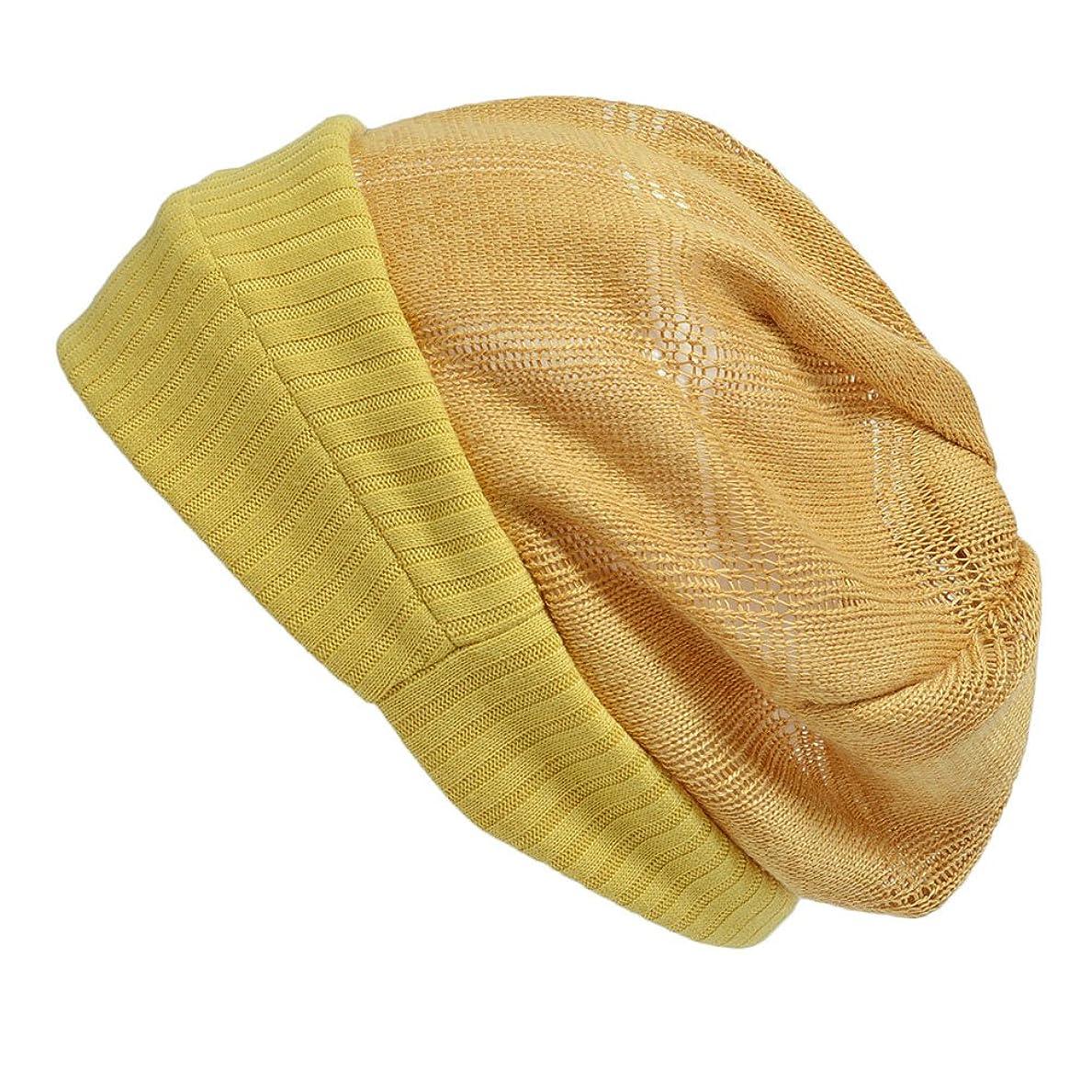 前奏曲一方、山(カジュアルボックス)CasualBox WATERMARK サマーニット帽 5色 フリーサイズ ニット帽 大きめサイズ 涼しいコットン ワッチキャップ 医療用帽子 grace charm チャーム