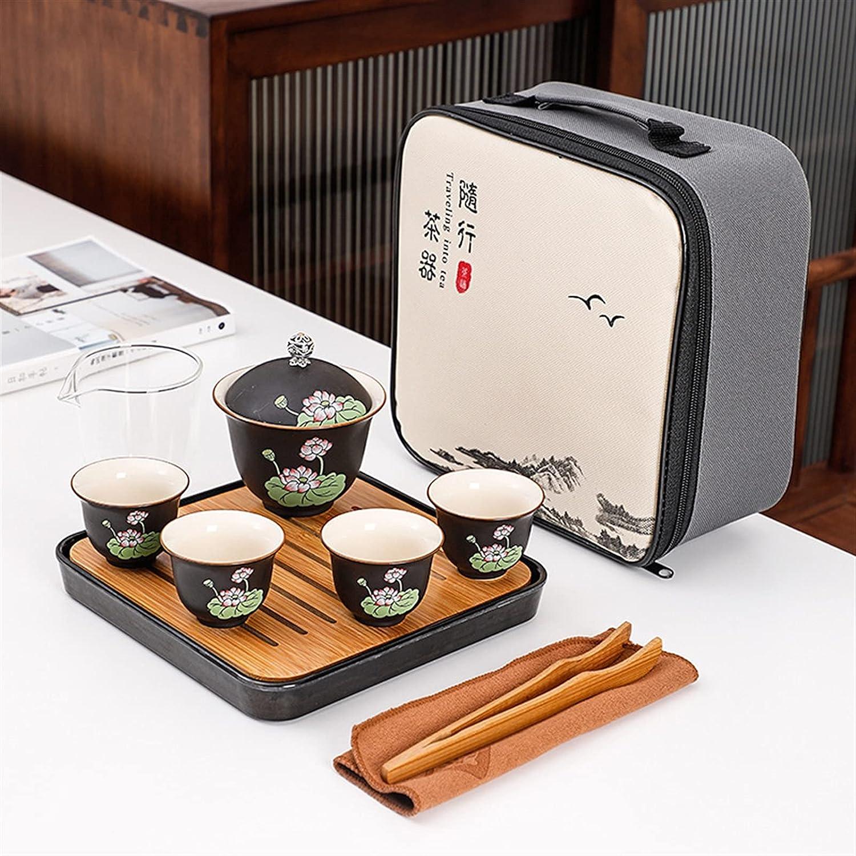 purple clay teapot Portable Tea set Elegant Teacups Max 72% OFF Teapot 1 4 include B
