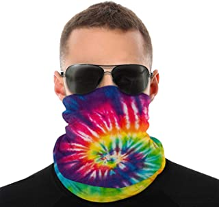 Tie Dye Men & Women Face Cover Bandana, Multifunctional Headband Scarf Neck Gaiter Balaclava