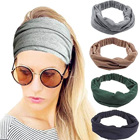 Details about  /3 Pack Women Men Elastic Turban Head Wrap Headband Twisted Wide Hair Band Sports