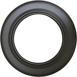 Kamino - Flam – Rosetón para tubo de chimenea (Ø 150 mm), Rosetón anillo para tubos de estufa, Rosetón conector para sistema de chimeneas, estufas, ventilaciones – acero resistente y durable – gris oscuro