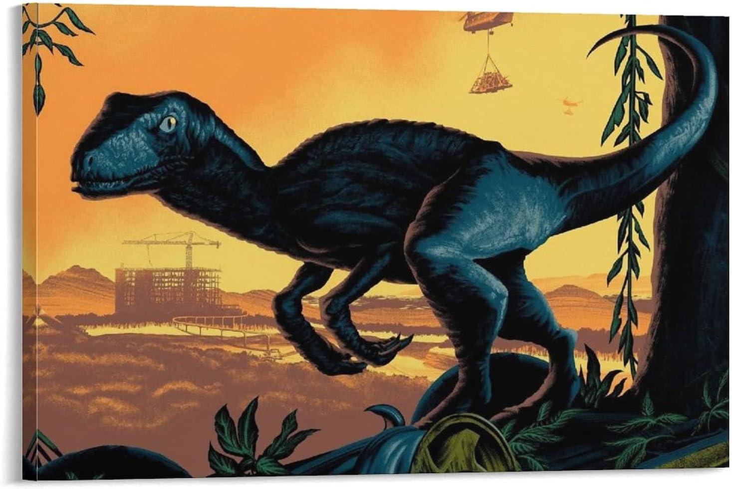 CONYASK Dinosaur Tyrannosaurus Velociraptor Cheap bargain High material Egg P Thief Poster 8