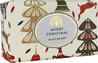 The English Soap Company, Vintage Wrapped Luxury Moisturising Shea Butter Hand Soap, Reindeer & Fir Tree - Mulled Wine, 200g