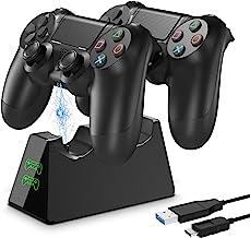 PS4-controller laadstation, Likorlove 2 uur LED-display Dockingstation Opladerstandaard Opladerstandaard Micro-USB-kabel v...