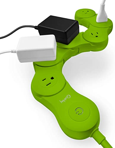 discount Quirky lowest Pivot Power 2.0 lowest - Flexible and Bendable 6 Outlet Surge Protector - Green outlet online sale