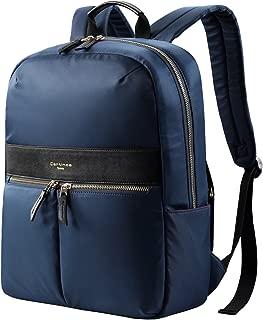 cartinoe小型のバックパック、反窃盗のバックパック防水ラップトップバッグ、デザインは軽量バックパックバックパックデイパックのビジネス旅行専門学校ランドセルの十代の男性は女性の15 . 6インチのためのタグ (黒い)