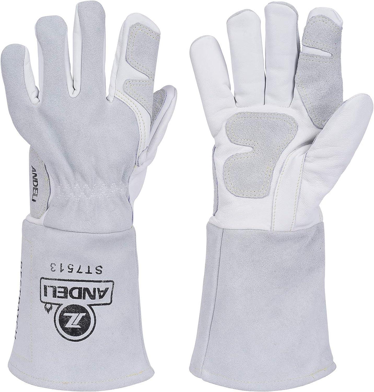 ANDELI Welding Gloves Credence TIG Heat Resistan Fire Mig Over item handling ☆