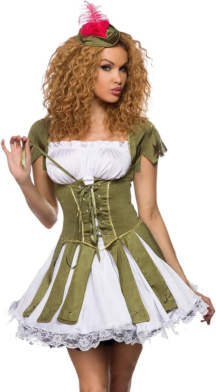 tienda Robin Hood de disfraces Mini vestido de Cochenaval en corsé corsé corsé aspecto  artículos de promoción