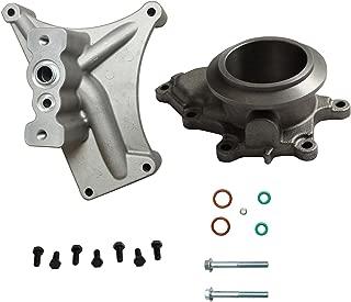 BLACKHORSE-RACING for 99.5-03 Ford 7.3 Powerstroke Diesel Turbo Pedestal+Bolts & Exhaust Housing