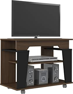 Artely Canada Table for 32 Inch TV - Walnut, Black, 60 x 80 x 40 cm