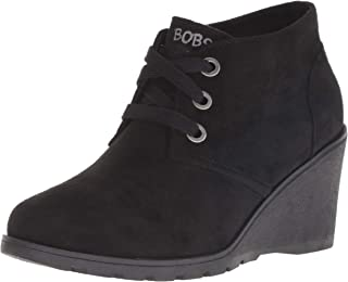 Skechers BOBS Women's Tumble Weed-Urban Rugged. Suede Wedge Bootie W Memory Foam Ankle Boot