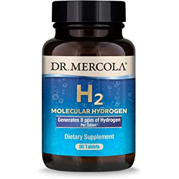 Dr. Mercola H2 Molecular Hydrogen Dietary Supplement, 90 Servings (90 Tablets), Non GMO, Gluten Free, Soy Free