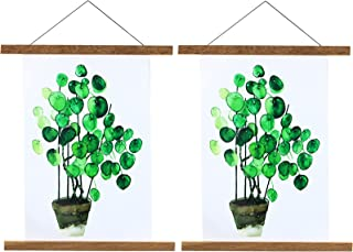 """2-pack Magnetic Poster Frames 16"""" Long, Wood Poster Hangers Wall Hanging Dowel Art Frames 11x16, 16x22, 16X24, 12X16 inche..."""