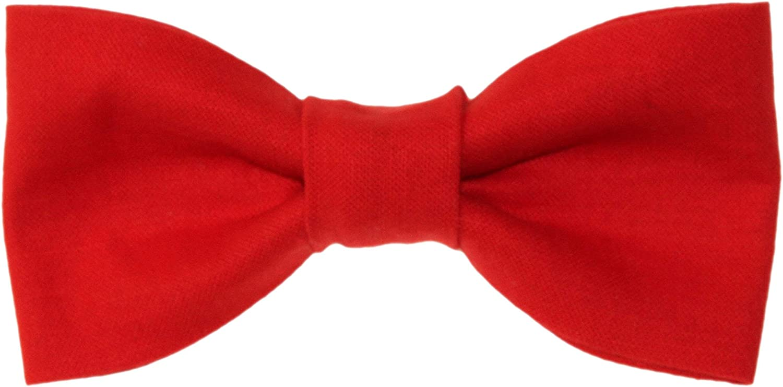 Toddler Boy 4T 5T Poppy Red Clip On Cotton Bow Tie Bowtie