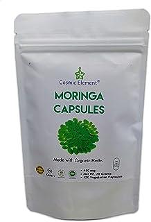 Moringa Oleifera 450 mg Powder Capsules ,Extra High Potency Extract Energizing 120 Vegetarian Capsules