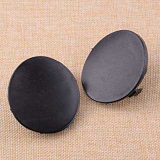 52128-02910 1 Pair Left & Right Front Bumper Tow Hook Cover Cap Black Plastic Fit For Toyota Corolla 2007 2008 2009