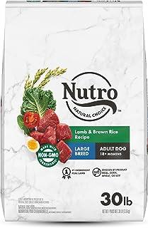 NUTRO NATURAL CHOICE Large Breed Adult Dry Dog Food, Lamb & Rice Recipe, 13.61kg (30LB) Bag