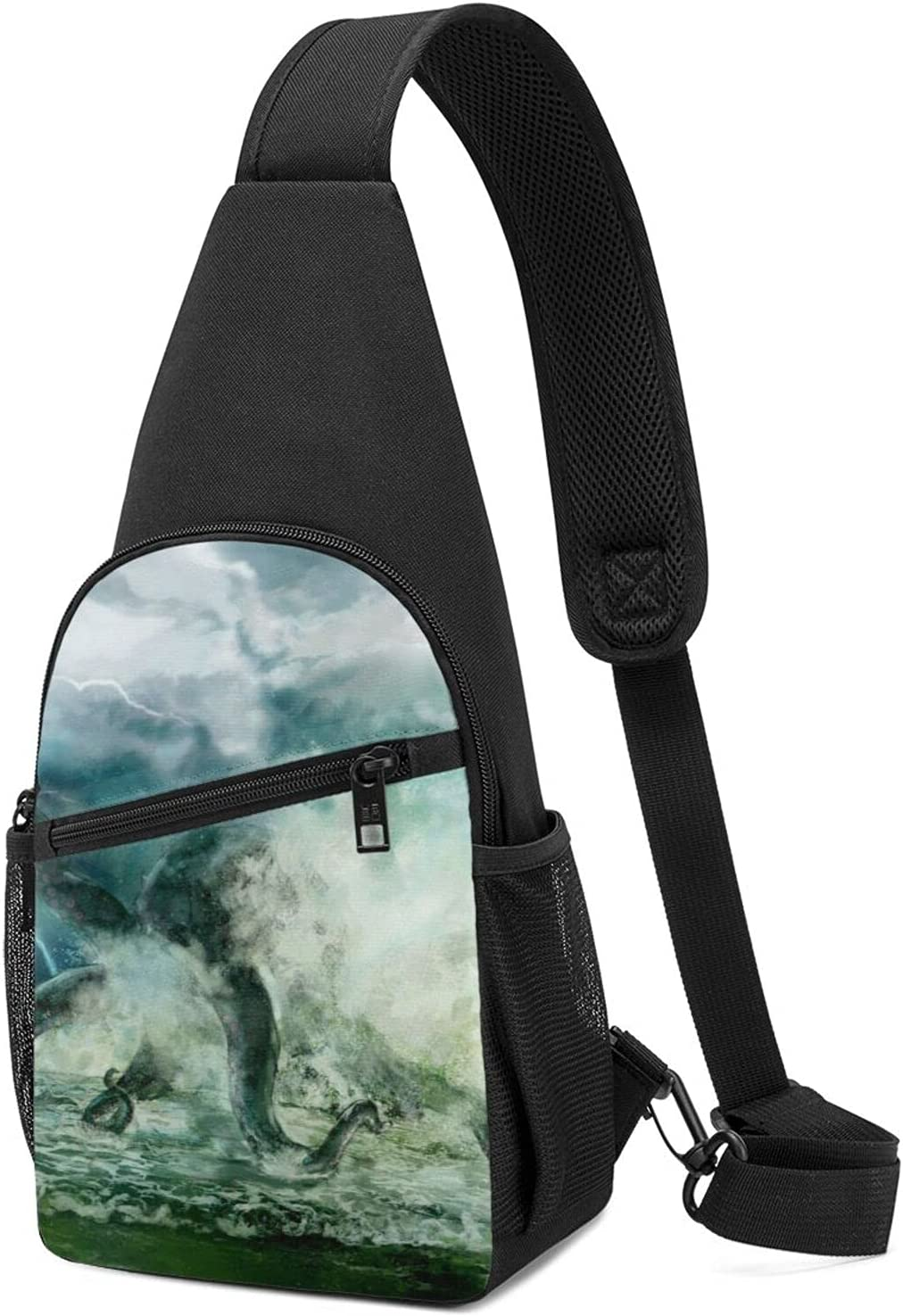 Crossbody Sling Backpack Bag Giant Regular discount Tr Large-scale sale In Storm Octopus The