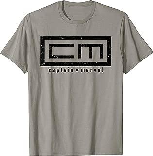 Captain Marvel Carol Danvers Black 90s Logo T-Shirt
