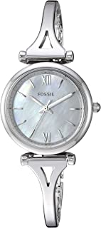 Women's Carlie Mini Quartz Stainless Three-Hand Watch, Color: Silver (Model: ES4501)