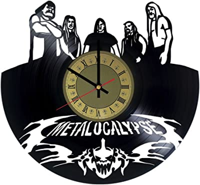 Metalocalypse Vinyl Clock | Melodic Death Metal | Best Gift for Dethklok Band Fans | Original