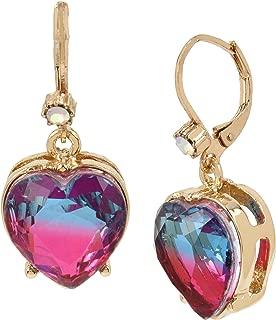 Ombre Stone Heart Drop Earrings