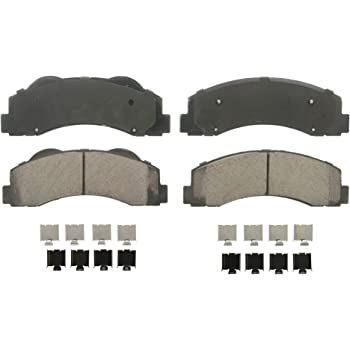 Wagner QuickStop ZD1414 Ceramic Disc Pad Set Includes Pad Installation Hardware, Front