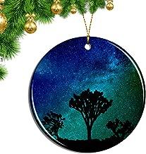 Hqiyaols Ornament America USA Joshua Tree California Christmas Ornaments Ceramic Sheet Souvenir Travel Gift Collection Tree Door Window Ceiling Pendant Decorative