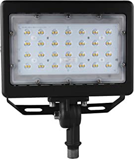 50W LED Flood Light 6500Lm Led Shoebox Pole Lights with Knuckle & Bracket mount, 5000K IP65 Waterproof Outdoor Security Lighting for Doorway Garden Yard Advertising Board and Parking Lot (UL-Listed)