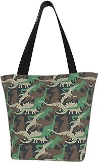 COOL-SHOW Einkaufstasche, Camouflage, extra groß, Segeltuch, für Markt, Strand, Reisen, wiederverwendbar, für Lebensmittel, Einkaufstasche, tragbare Aufbewahrung, Handtaschen
