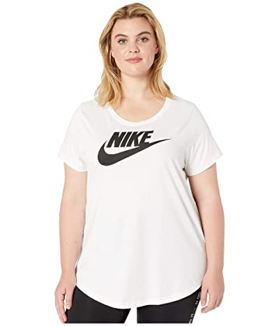 Nike Plus Size NSW Tee Essential Futura (White/Black) Women