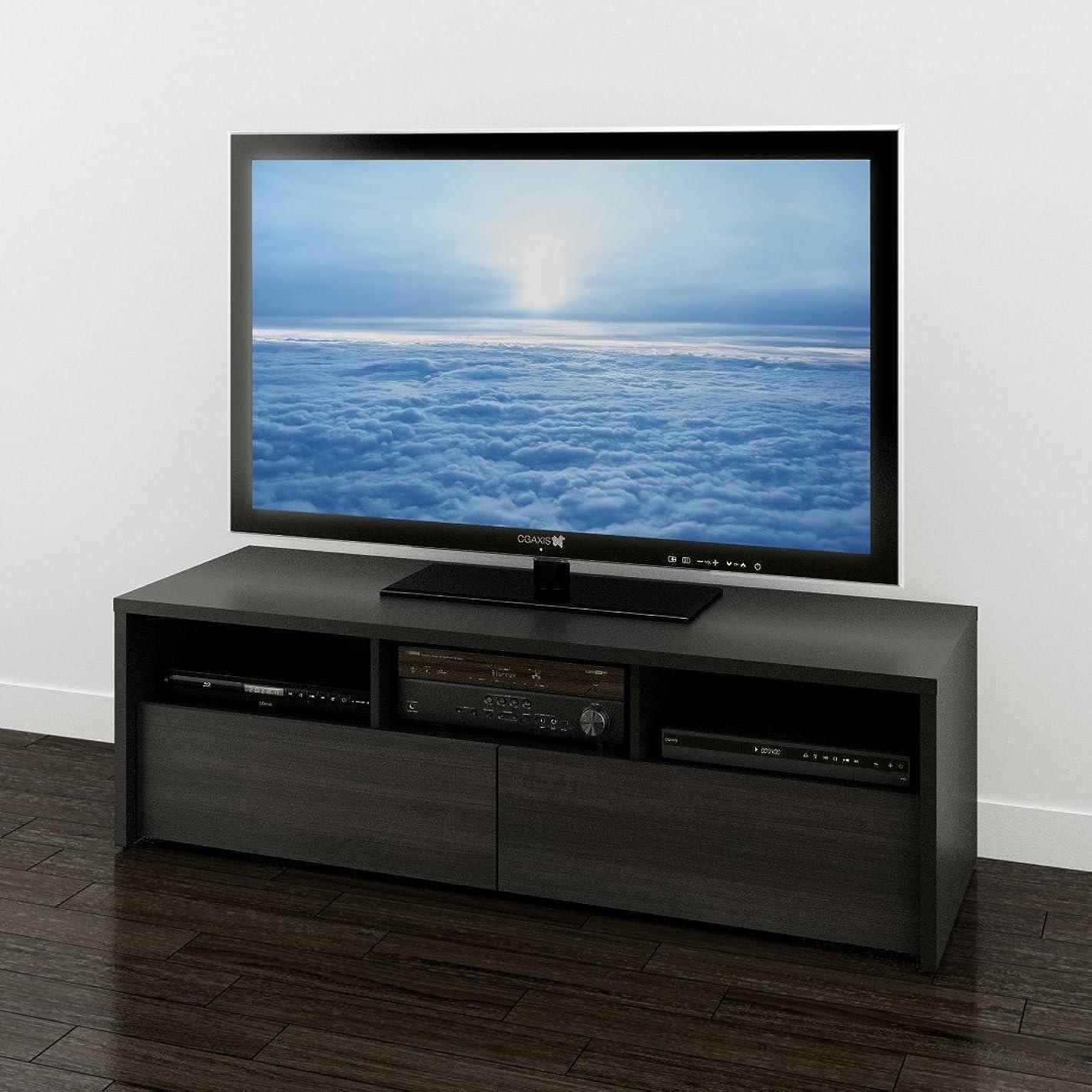 Sereni-T 60-inch TV Stand 210406 from Nexera, Black and Ebony