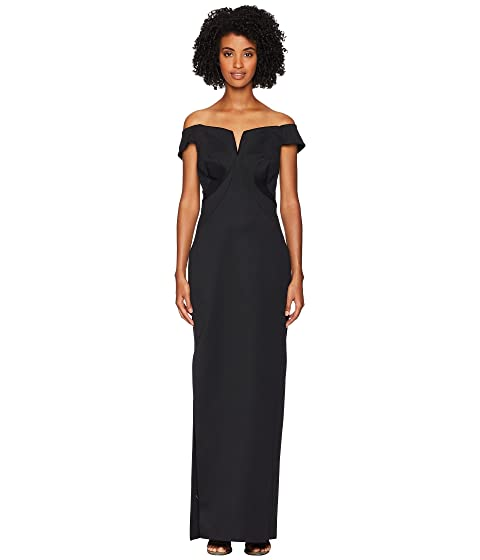 Zac Posen Bondage Jersey Off the Shoulder Gown