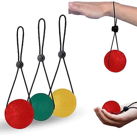 Tterapia delle Mani e Sollievo dallo Stress e Dallansia Palla per Esercizi con Gel Terapeutico con Diversi Punti di Forza Hivool Palline Antistress per Le Mani Ideale per Esercizi e Rinforzo