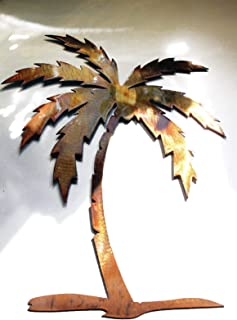 metal palm tree wall art