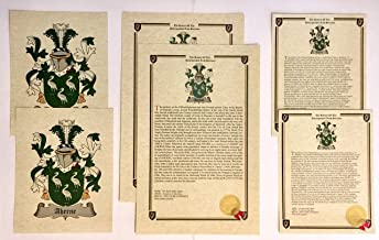 Larue - Last Name History and Coat of Arms from France Print Set (2 Pack)